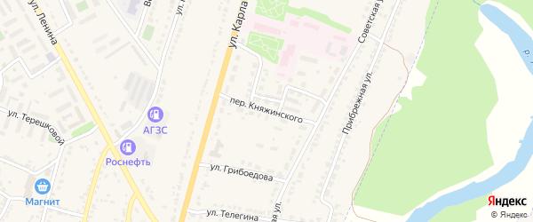 Переулок Княжинского на карте Усмани с номерами домов
