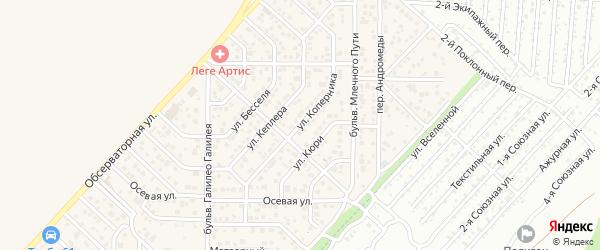 Улица Коперника на карте Верхнетемерницкого поселка Ростовской области с номерами домов