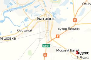 Карта г. Батайск Ростовская область