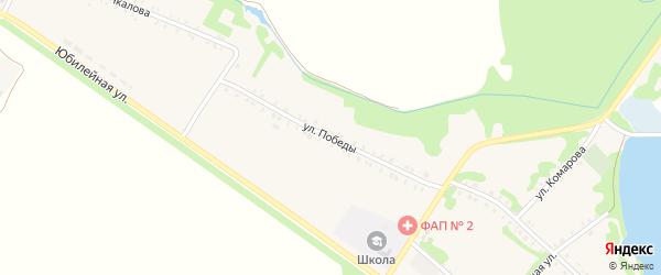Улица Победы на карте Еленовского села Адыгеи с номерами домов