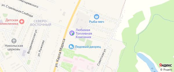 Березовая улица на карте Усмани с номерами домов