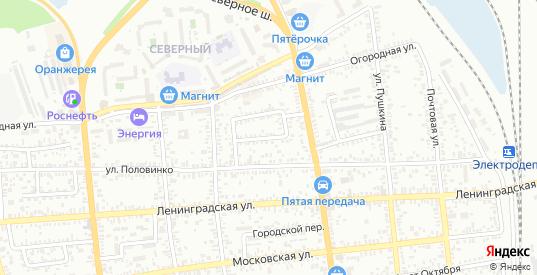 Заречный переулок в Батайске с номерами домов на карте. Спутник и схема онлайн