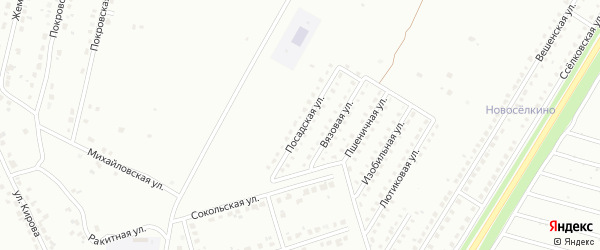Посадская улица на карте Липецка с номерами домов