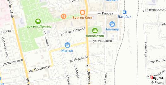 Улица Урицкого в Батайске с номерами домов на карте. Спутник и схема онлайн