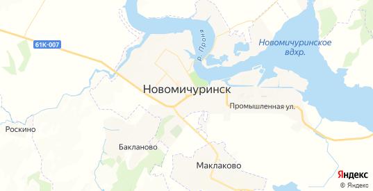 Карта Новомичуринска с улицами и домами подробная. Показать со спутника номера домов онлайн