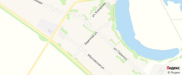 Заречная улица на карте Еленовского села Адыгеи с номерами домов