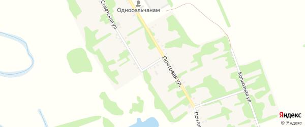 1-й переулок на карте Верхненазаровского села Адыгеи с номерами домов