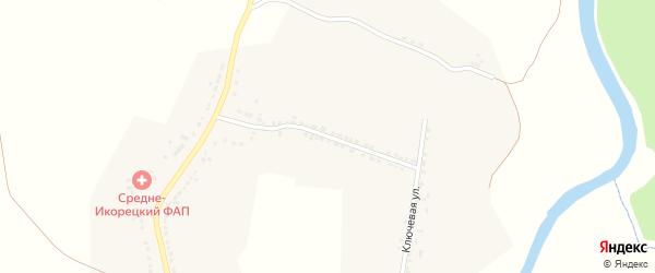 Ключевая улица на карте села Среднего Икорца Воронежской области с номерами домов