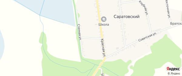 Степной переулок на карте Саратовского хутора с номерами домов