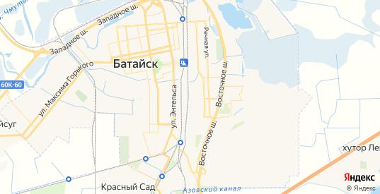 Карта Батайска с улицами и домами подробная. Показать со спутника номера домов онлайн
