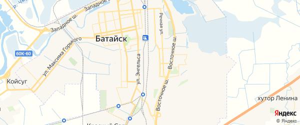 Карта Батайска с районами, улицами и номерами домов
