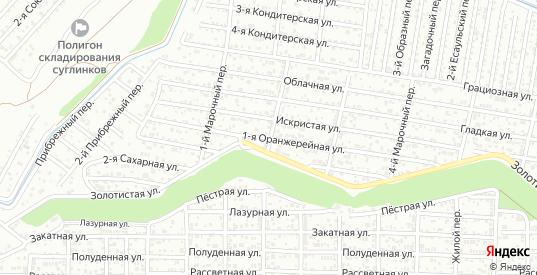 1-я Оранжерейная улица в Ростове-на-Дону с номерами домов на карте. Спутник и схема онлайн