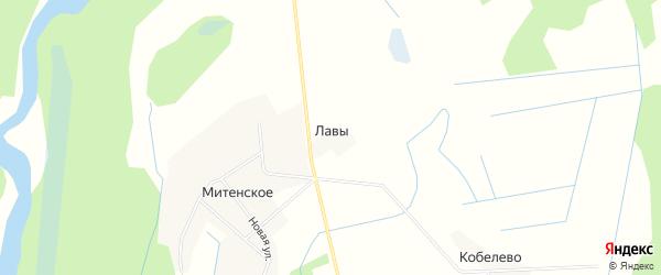 Карта деревни Лавы в Вологодской области с улицами и номерами домов