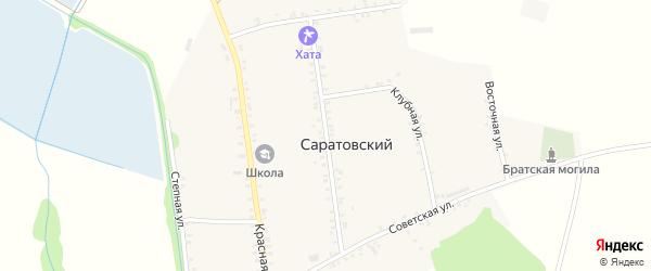 Комсомольская улица на карте Саратовского хутора Адыгеи с номерами домов