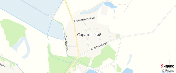 Карта Саратовского хутора в Адыгее с улицами и номерами домов