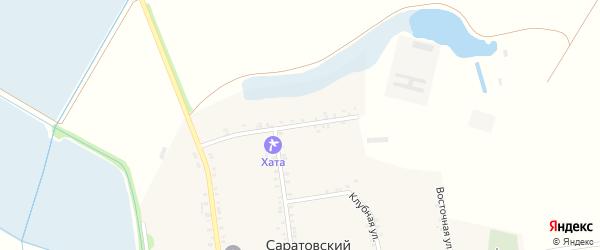 Октябрьская улица на карте Саратовского хутора Адыгеи с номерами домов
