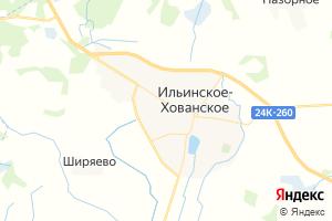 Карта пос. Ильинское - Хованское Ивановская область