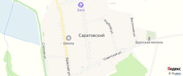 Школьный переулок на карте Саратовского хутора Адыгеи с номерами домов