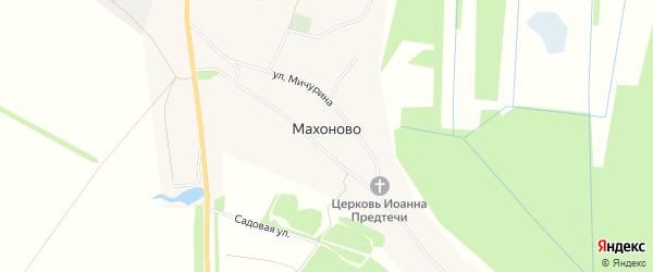 Карта села Махоново в Липецкой области с улицами и номерами домов