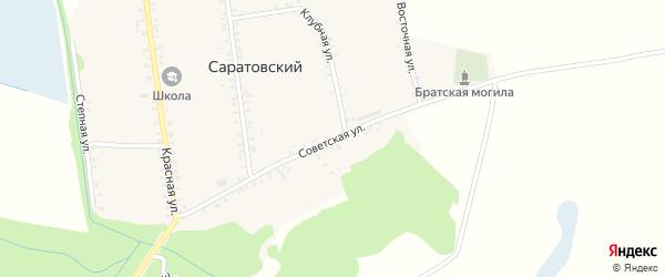 Советская улица на карте Саратовского хутора с номерами домов
