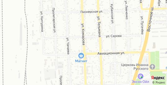 Улица Комарова в Батайске с номерами домов на карте. Спутник и схема онлайн