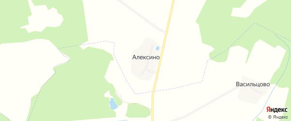 Карта деревни Алексино в Ярославская области с улицами и номерами домов