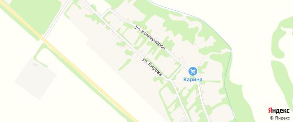 Улица Кирова на карте Еленовского села Адыгеи с номерами домов
