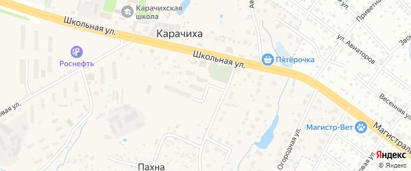 Радужный переулок на карте поселка Карачихи Ярославская области с номерами домов