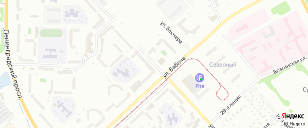 Улица Строителей на карте Ярославля с номерами домов