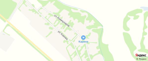 Улица Коммунаров на карте Еленовского села Адыгеи с номерами домов