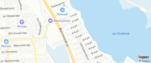 4-я улица на карте территории Гидромеханизатора с номерами домов