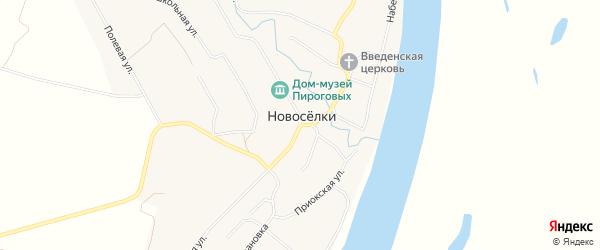 Карта села Новоселки в Рязанской области с улицами и номерами домов