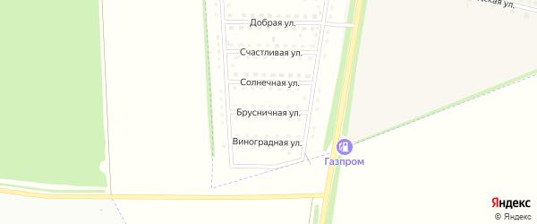 Брусничная улица на карте села Капитанщино Липецкой области с номерами домов