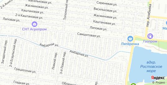 1-й Барьерный переулок в Ростове-на-Дону с номерами домов на карте. Спутник и схема онлайн