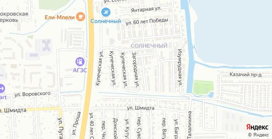 Загородная улица в Батайске с номерами домов на карте. Спутник и схема онлайн
