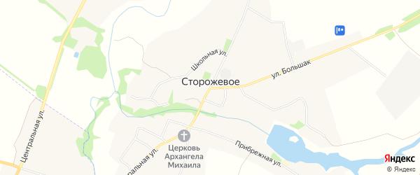 Карта Сторожевого села в Липецкой области с улицами и номерами домов