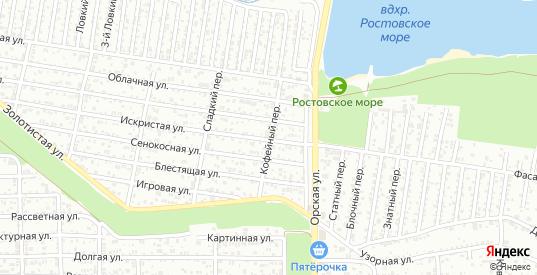 Кофейный переулок в Ростове-на-Дону с номерами домов на карте. Спутник и схема онлайн
