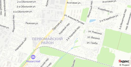 2-й Хоровой переулок в Ростове-на-Дону с номерами домов на карте. Спутник и схема онлайн