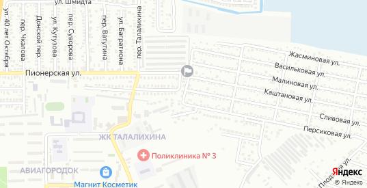 Липовая улица в поселке Донская Чаша в Батайске с номерами домов на карте. Спутник и схема онлайн