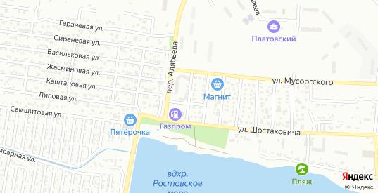 Переулок Врубеля в Ростове-на-Дону с номерами домов на карте. Спутник и схема онлайн