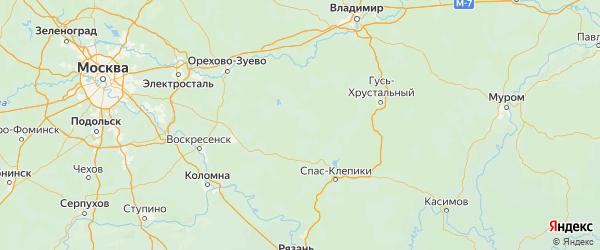 Карта Шатурского района Московской области с городами и населенными пунктами