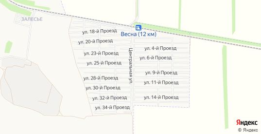 Карта поселка Весна в Батайске с улицами, домами и почтовыми отделениями со спутника онлайн