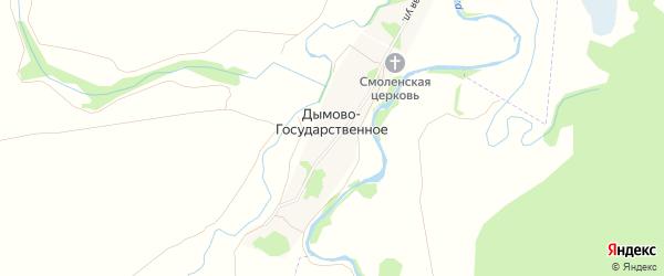 Карта Дымова-Государственного села в Рязанской области с улицами и номерами домов