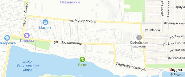 Переулок Гнесина на карте Ростова-на-Дону с номерами домов