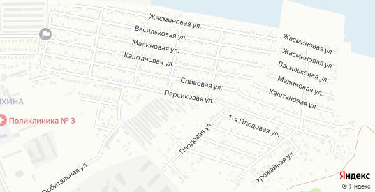 Персиковая улица в поселке Донская Чаша в Батайске с номерами домов на карте. Спутник и схема онлайн
