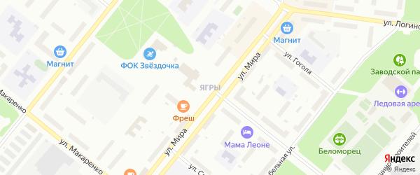 Площадь Просянкина на карте Северодвинска с номерами домов