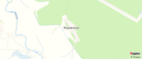 Карта деревни Журавлихи в Рязанской области с улицами и номерами домов