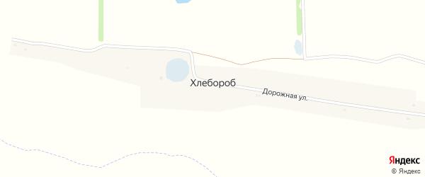 Хлебная улица на карте села Хлебороба Липецкой области с номерами домов