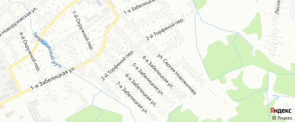 4-я Забелицкая улица на карте Ярославля с номерами домов