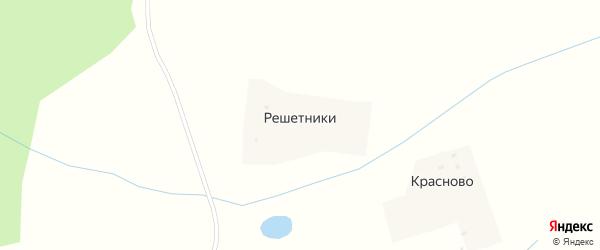 Полевая улица на карте деревни Решетники Ярославская области с номерами домов